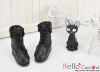 【06-01】B╱P 翻領綁帶短靴.Black