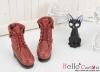 【06-07】B╱P 翻領綁帶短靴.Crimson