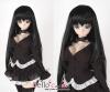 """8.0~9.5"""" 耐熱假髮.羽毛剪中長髮 (HT-02CL) Black"""