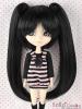 "【HT-1521S】8.0~9.5"" 耐熱假髮三件式.短髮 + 長髮夾 # Black"