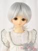 "【NC-M03】7~8"" 耐熱假髮.短髮蓄捲翹小髮尾 #  Silver White"