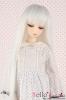 "【ND-04C】6~7"" 耐熱假髮.平剪瀏海長直髮 # Silver White"