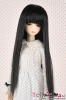 "【ND-04C】6~7"" 耐熱假髮.平剪瀏海長直髮 # Black"