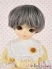 "【ND-GL04】6~7"" 耐熱假髮.自然柔捲短髮 # Deep Grey"
