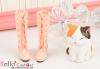 【Mini.02-05】基本款百搭綁帶高跟長靴.Pink