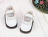 【Mini.08-03】瑪莉珍鏤空花邊圓頭迷你鞋.White