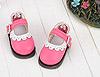 【Mini.08-08】瑪莉珍鏤空花邊圓頭迷你鞋.Deep Pink