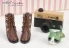 【09-4】B╱P 三孔百搭款短靴.Chocolate