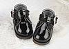 【Mini.21-01】方型側扣帶迷你踝鞋.Shiny Black