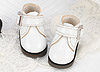 【Mini.21-02】方型側扣帶迷你踝鞋.Shiny White