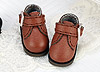 【Mini.21-05】方型側扣帶迷你踝鞋.Brown