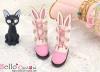 【Mini.24-04】雙色免耳可愛迷你短靴.Deep Pink