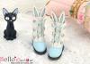 【Mini.24-06】雙色免耳可愛迷你短靴.Sky Blue