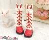 【25-05】B╱P 雙色免耳五孔綁帶中筒靴.紅