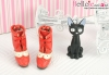 【Mini.26-06】優雅踏步雙色綁帶高跟短靴.Red