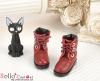 【27-5】B╱P 三孔綁帶簡約風短靴.Crimson