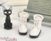 【28-1】B╱P 三孔翻領綁帶短靴.White