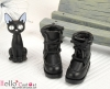 【28-2】B╱P 三孔翻領綁帶短靴.Black