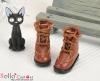 【28-3】B╱P 三孔翻領綁帶短靴.Brown