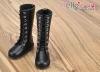 【TY02-1】Taeyang 綁帶多孔基本款.中筒靴 # Black