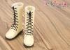 【TY02-2】Taeyang 綁帶多孔基本款.中筒靴 # Beign