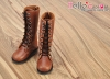 【TY02-3】Taeyang 綁帶多孔基本款.中筒靴 # Brown