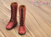 【TY02-4】Taeyang 綁帶多孔基本款.中筒靴 # Brick Red