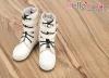 【TY03-2】Taeyang 酷帥雙扣環.短靴 # White