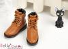 【TY6-5】Taeyang 綁帶簡約短靴 # Brown