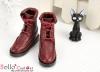 【TY7-3】Taeyang 翻領綁帶短靴 # Crimson