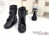 【TY8-1】Taeyang 雙條扣帶短靴 # Black