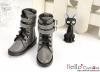 【TY8-6】Taeyang 雙條扣帶短靴 # Grey